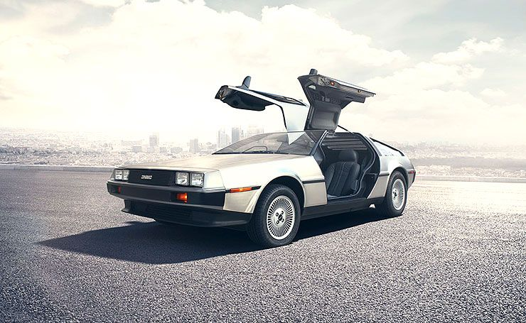 brand new DeLorean front