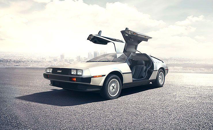 brand new DeLorean front