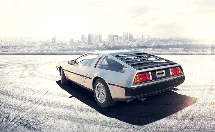 brand new DeLorean rear