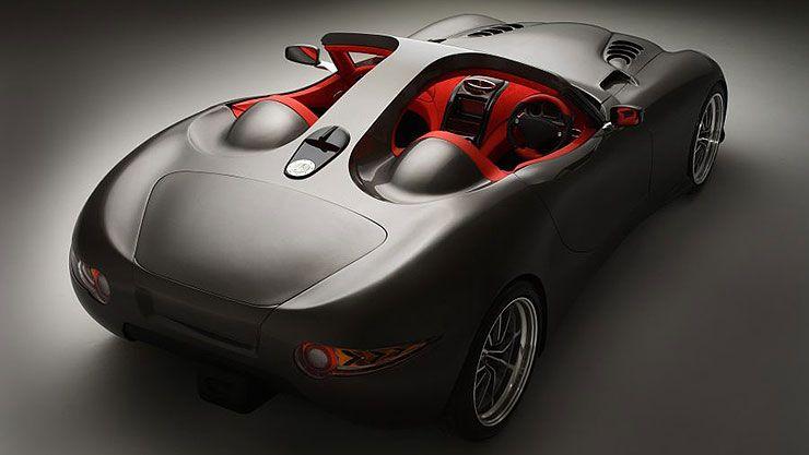 diesel-powered Trident Iceni sports car top rear