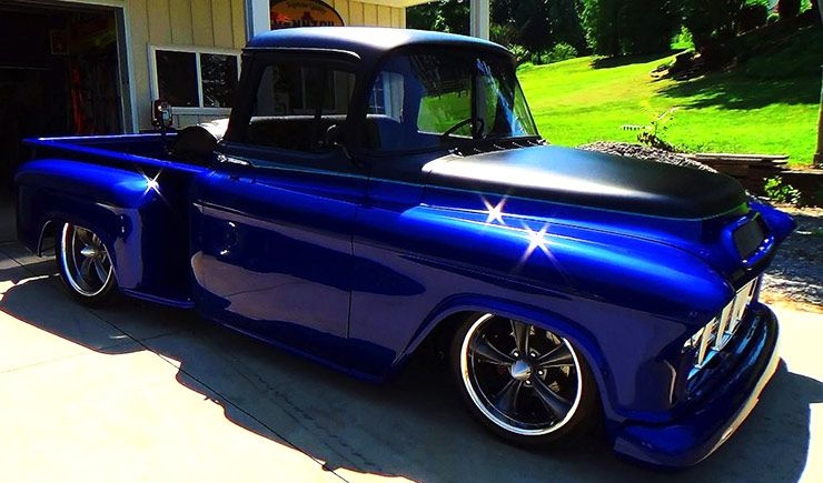 Candy Blue 1955 Chevrolet Street Truck