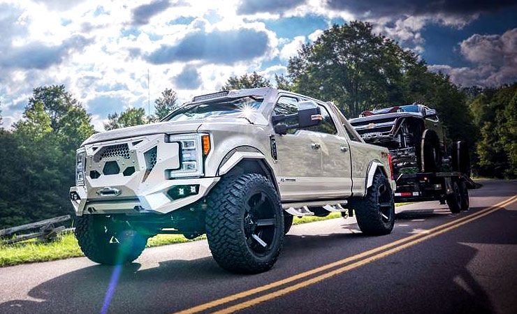 Ford Super Duty Fab Fours no lift 40 trail grapplers