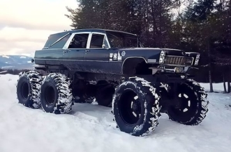 Mortis - the 1967 Cadillac 6x6 monster hearse