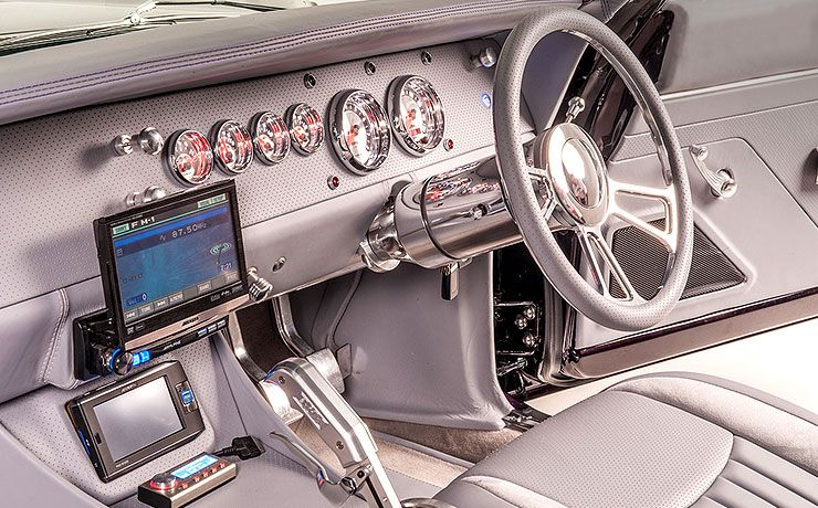 Terry Mourched 1968 Dodge Charger interior