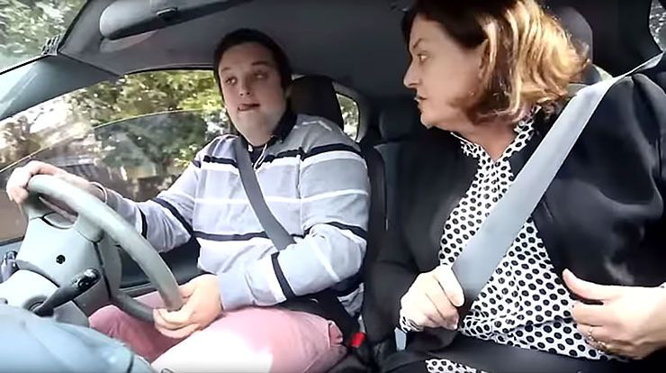 hilarious driving lessons with Mom and Dad