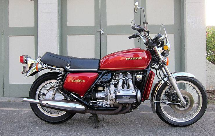 1975 Honda GL1000 red