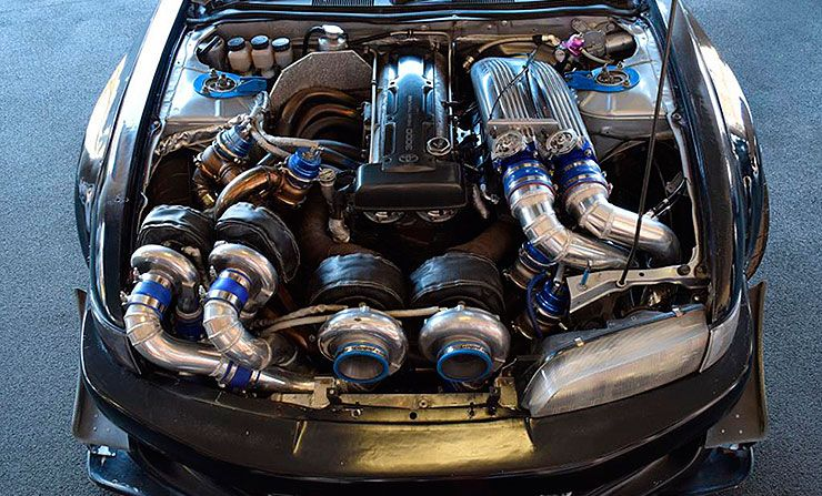 Quad turbo 2JZ Silvia S14 by Caroline Racing Nissan