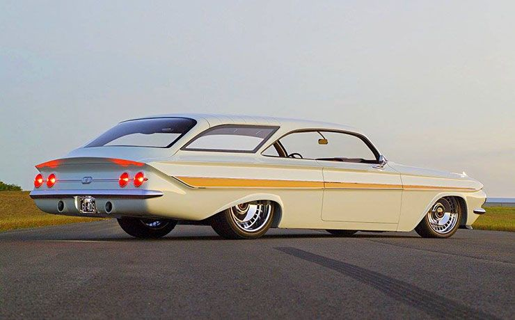 1961 Chevrolet Impala station wagon double bubble