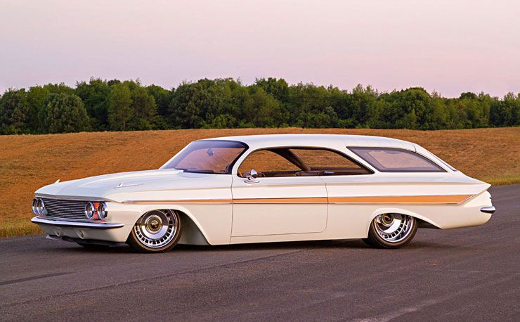 1961 Chevrolet Impala wagon double bubble