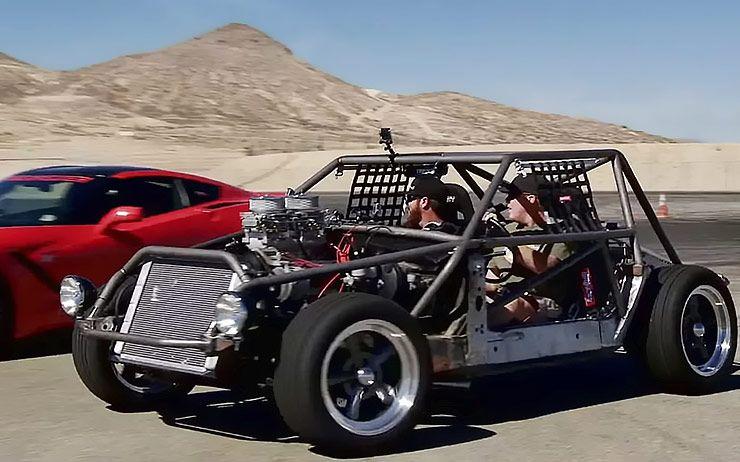 C4 Corvette-kart vs Lingenfelter C7 Corvette