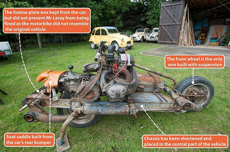 motorbike from broken Citroen C2