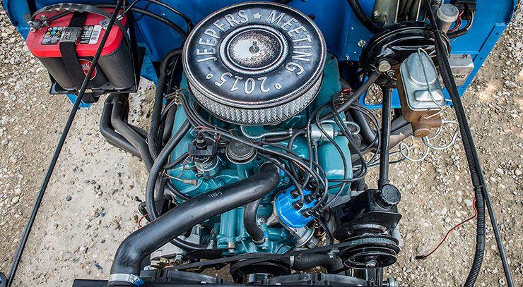 Levis CJ Jeep Hotrod V8 motor
