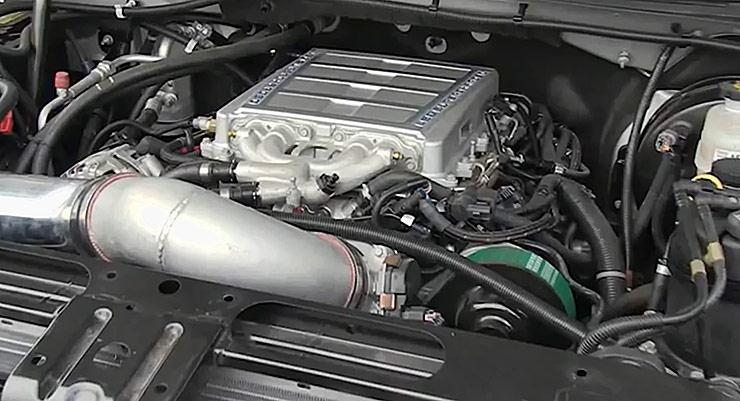 LS9 crate engine in Silverado pickup