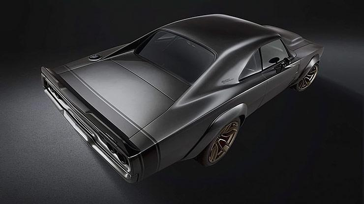 1968 Dodge Charger with Hellephant engine rear