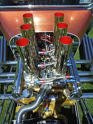 1955 Ford Thunderbird V8 engine in Dodge T Bucket hot rod