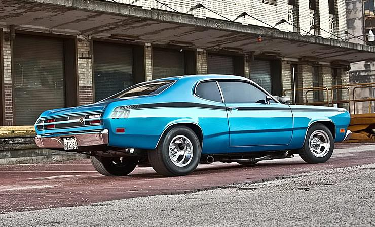 1971 Plymouth Duster streetrod rear