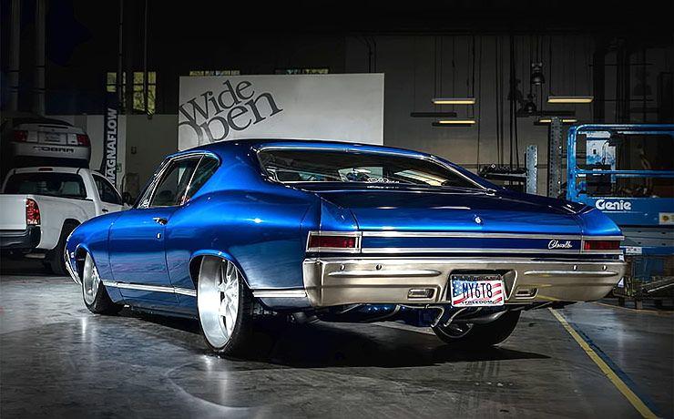 1968 Chevelle Blue Eyed Devil rear