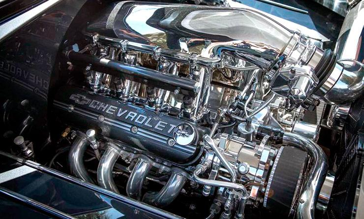 LS-3 engine in 1955 Chevy Bel Air