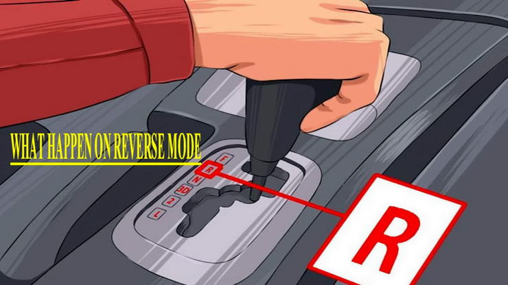 gearshift lever in reverse gear