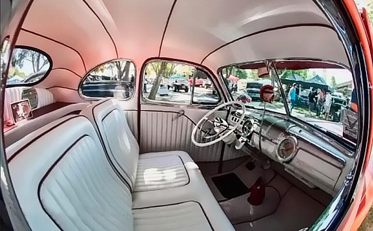 1942 Ford business coupe interior