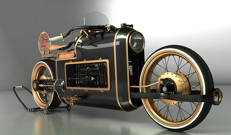 ARX-4 Steampunk motorcycle concept