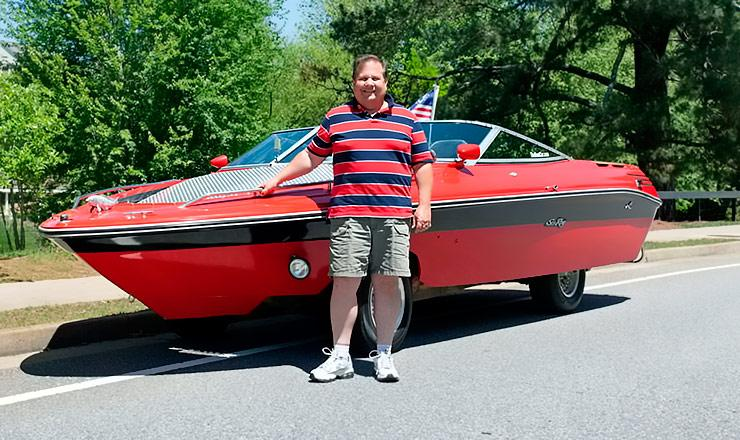 Mark Ray built his dream boat car
