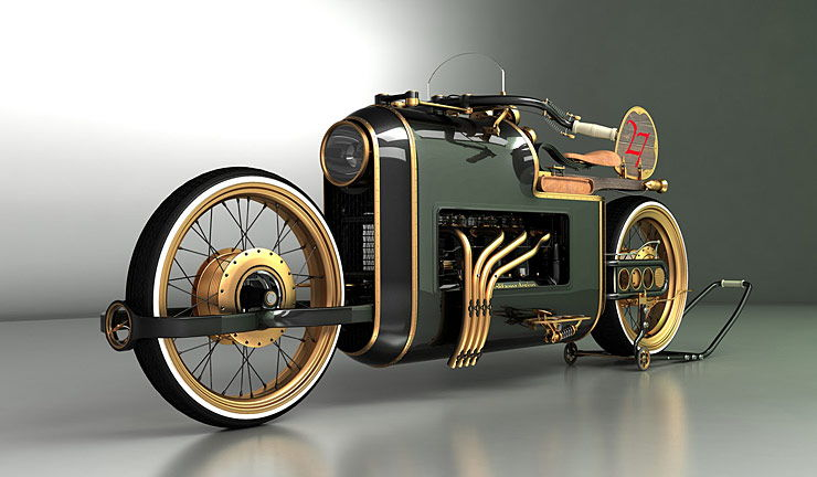Steampunk motorcycle concept ARX-4