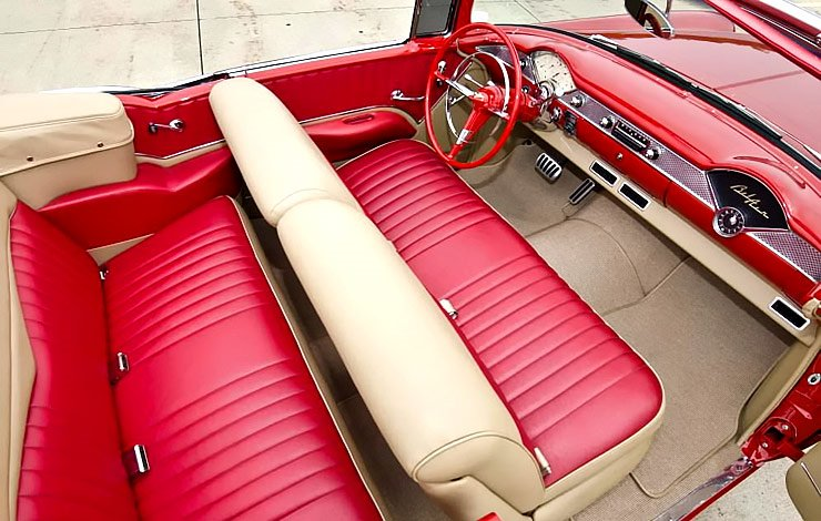 1955 Chevy Bel Air convertible interior