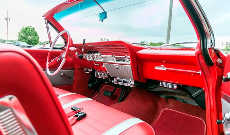 1961 Chevrolet Impala convertible interior