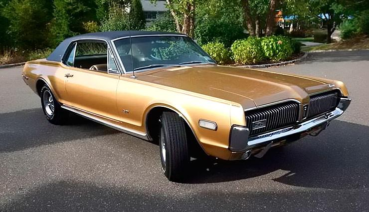 1968 Mercury Cougar XR7 grecian gold