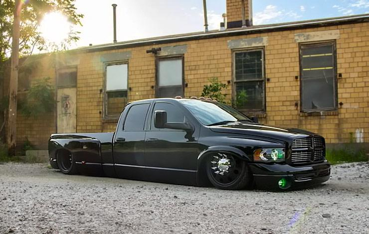 he Black Pearl blacked out bagged Dodge Ram