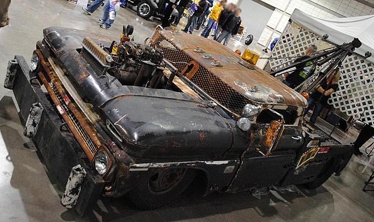 rat rod tow truck wrecked wrecker