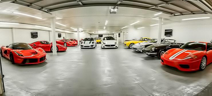 50 Million dollar worth Ferrari Collection
