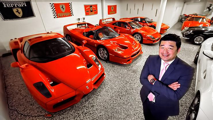 David Lee 50 Million dollar worth Ferrari Collection