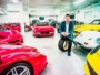 David Lee with his Ferrari Collection