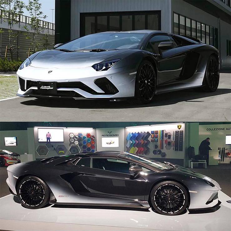 Lamborghini Aventador S roadster 50th anniversary Japan wind Bianco Giappone / Nero Pegaso