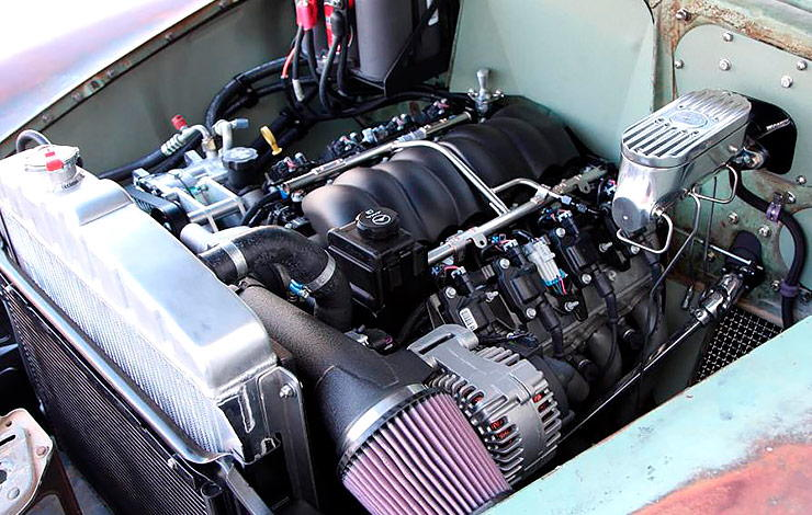 LS3 fuel injected motor in 1952 Chevrolet Derelict Business Coupe