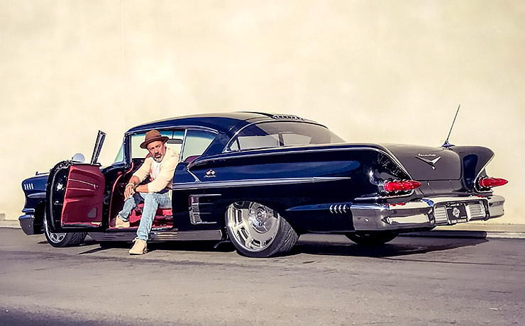 Ralph Holguin with his 1958 Impala