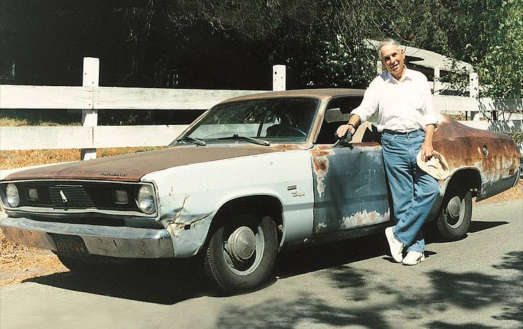 1969 Plymouth Duster - DHLs first delivery car