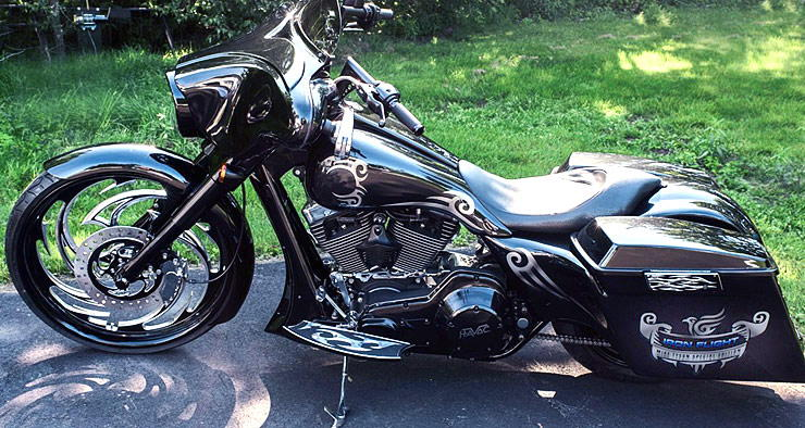 Havoc Motorcycles Iron Flight Mike Tyson Edition left side view