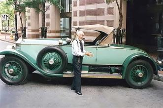 Allen Swift drove his 1928 Rolls Royce Roadster for 77 years