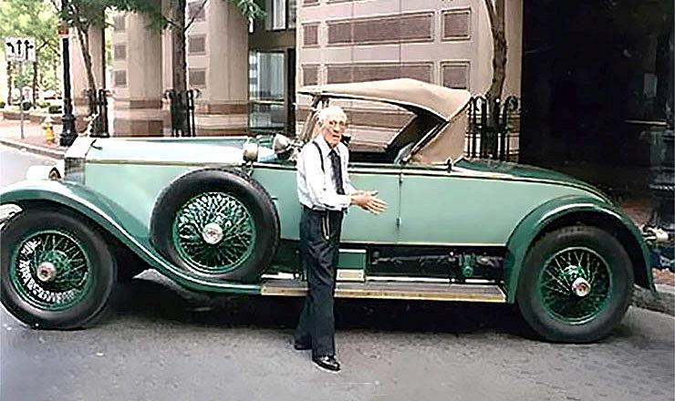 Allen Swift with his Rolls Royce Phantom