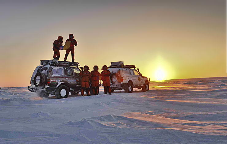eight man in Siberian adventure