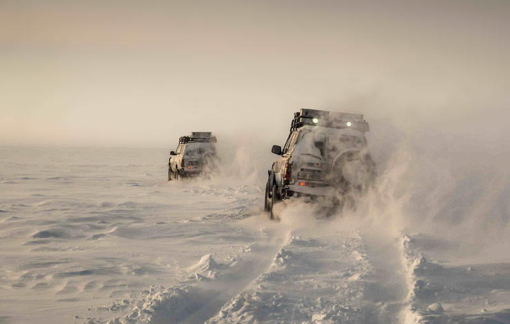 extreme conditions for driving in Siberia