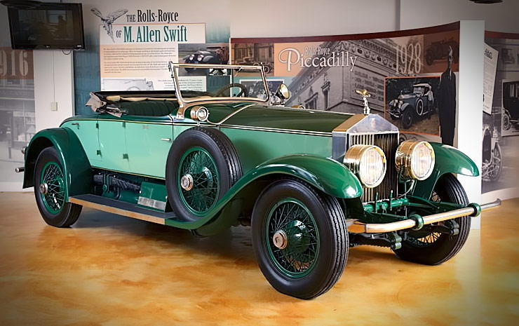 You can visit Allen Swifts 1928 Rolls-Royce Phantom I at the Springfield Museums in Massachusetts