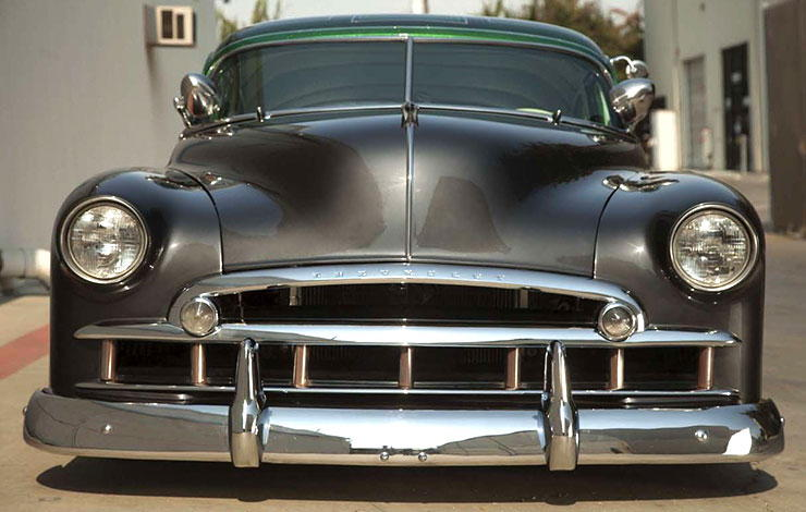 "1950 Chevy Sedan ""Lucky Deluxe"" front"
