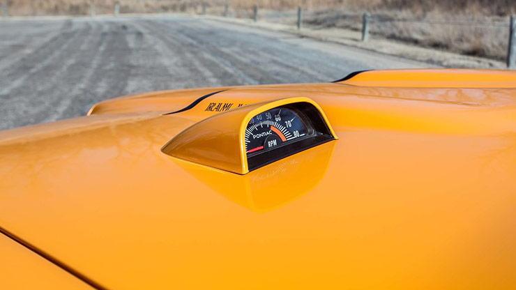 1970 Pontiac GTO Judge hood tachometer