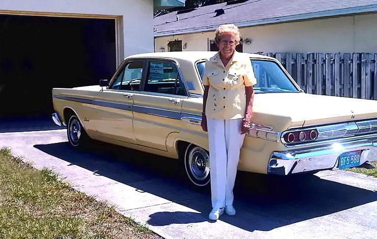 Rachel Veitch with her Mercury Mercury Comet Caliente