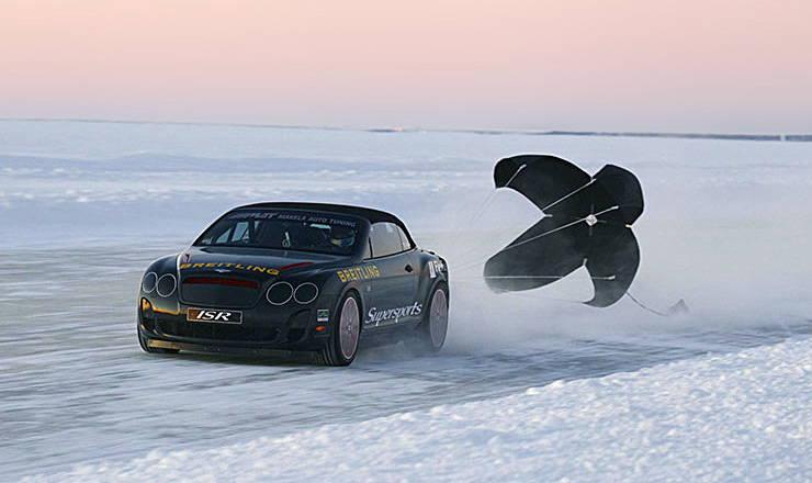 Juha Kankkunen sets World Speed Record on Ice in Bentley