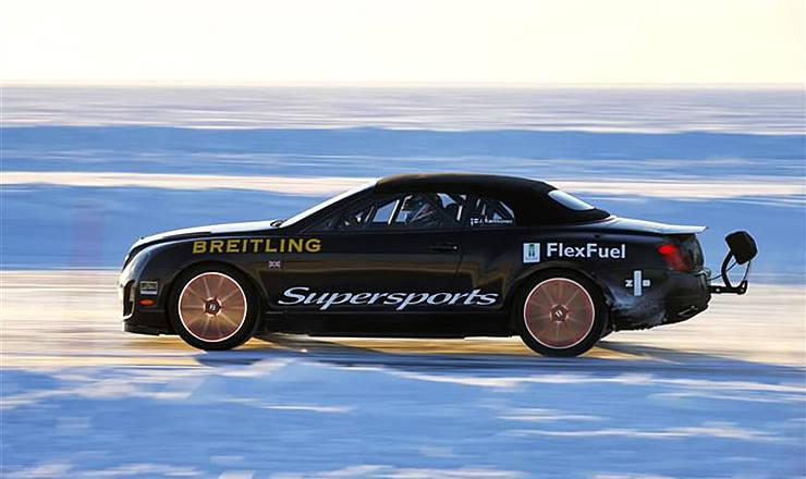 Bentley set World Speed Record on Ice